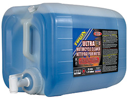 Bike Wash, 20-litre (5.28 gallon) size for dealers or those with multiple bikes. The easy spigot is included. Sits on the shelf for fast refills.